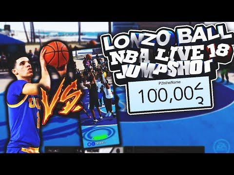 Download Youtube: SHOOTING W/ LONZO BALL'S NBA LIVE 18 JUMPSHOT! + 100,000 SUBSCRIBERS!
