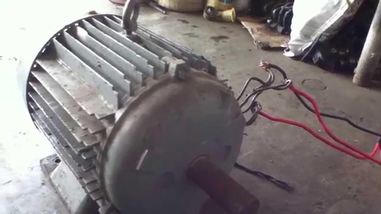 my 15 hp brooks crompton parkinson motor 220 volts 3 phase 1430 rpm [ 1280 x 720 Pixel ]