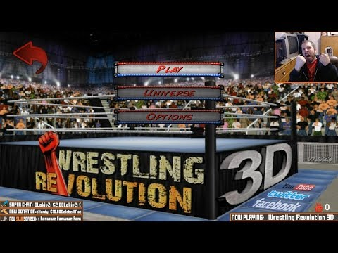 Wrestling Revolution 3D Career [livestream archive]