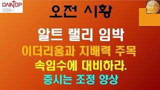 1/16 암호화폐 비트코인 주식 해외선물)알트코인 랠리 임박/ 이더리움과 지배력 주목 / 속임수에 대비하라 …