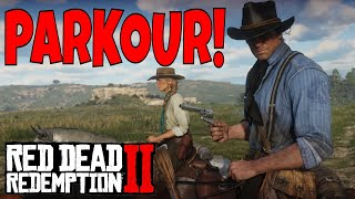 Cowboy Parkour - Red Dead Redemption 2 Gameplay funny moments | Birdalert (CLIP)