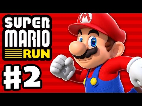Super Mario Run - Gameplay Walkthrough Part 2 - World 2! All Pink Coins! Toad Rally! (iOS)