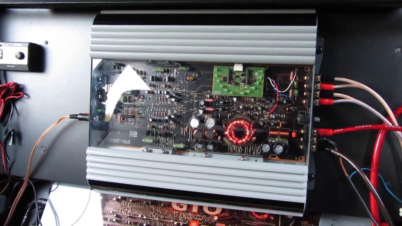 audio mobil jbl gto 2000 amplifier 2 channel 400w youtube rh youtube com