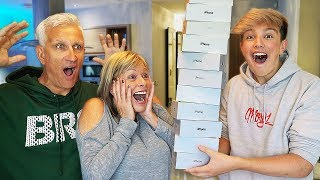 Destroying Mom & Dad's iPhone's & Buying them 100 New Ones... ($100,000) thumbnail