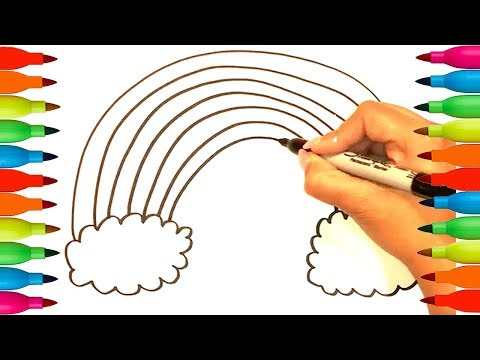 How to Draw Color Rainbow |Coloring Pages | Art Colors For Kids | Draw Rainbow