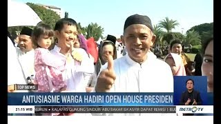 Antusiasme Warga Bertemu Jokowi di Open House Lebaran di Istana Negara