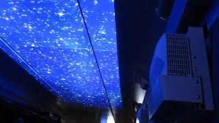 北越急行「ほくほく線」経由の直江津行きがトンネル通過中、ゆめぞらスクリーン(車内より)