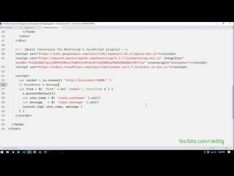 Real Time Python Chat Application Using Python Flask SocketIO