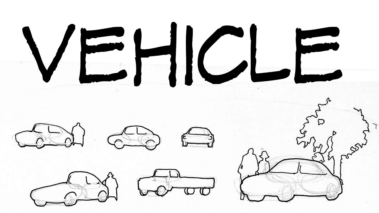 Architecture Drawing Cars vehicle - architecture daily sketches - youtube