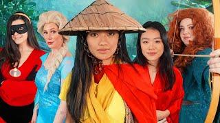 Raya And The Warrior Disney Princesses - THE MUSICAL   ft. Elsa, Mulan, Merida and Violet