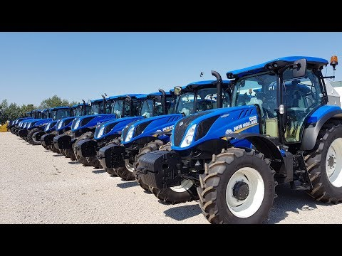 New holland t5,t6,t7,t8, t8.435 tractors 2017 Woman tractor driver