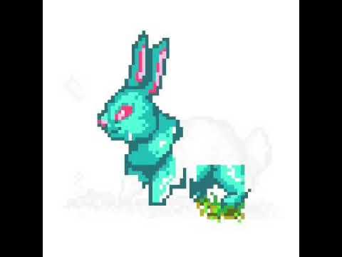 Comment Faire Un Lapin En Pixel Art Youtube