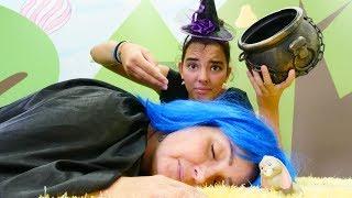 Cadılar sihirli uyutan armut yiyorlar! Kız oyunu