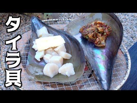 毛が生えてる貝?タイラ貝を七輪で焼いて食べてみた!