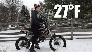 Cold Starting My Apollo 125cc Dirt Bike - 27°F - [HD]