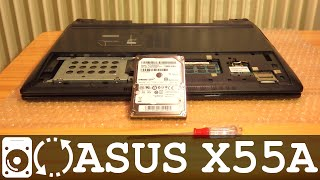 ASUS X55A B980 replace Hard Disk Drive HDD or SSD | Disassemble Tutorial