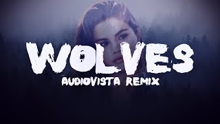 Selena Gomez - Wolves ft. Marshmello (Audiovista Remix) [Lyrics / Lyric Video]