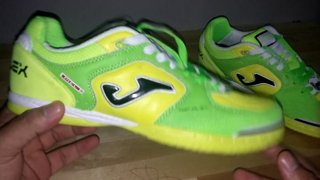 Review Sepatu Futsal Joma Topflex Leather Green Fluor