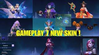 GAMEPLAY 7 NEW SKINS ! Lunox Epic, Karrie Epic | Mobile Legends: Bang Bang
