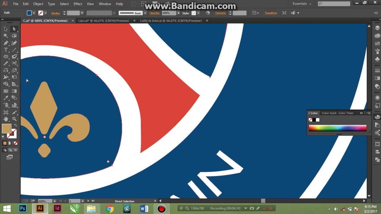 cara membuat logo psg di adobe illustrator part 2 youtube