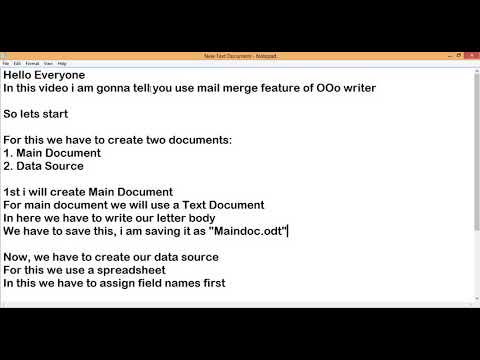 How to use Mail Merge? || Mail Merge - OOo Writer