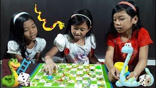 Jessica Main Ular Tangga 💖 Mainan Anak Snakes and Ladders Toys For Kids 💖 Serunya Bareng Sepupu