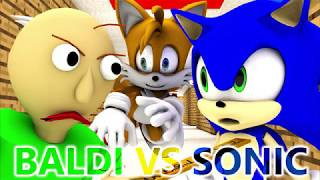 BALDI'S BASICS VS SONIC (Official) Baldi Minecraft Animation Horror Game