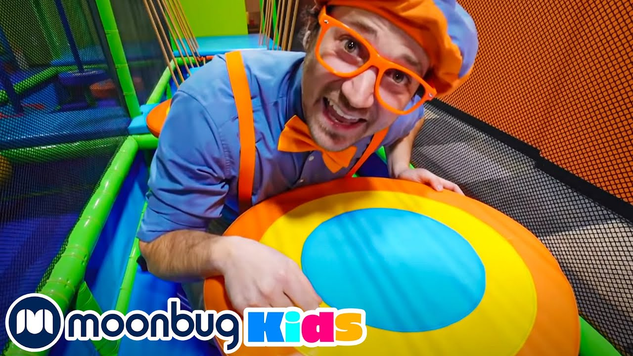 Blippi Visits the Funtastic Playtorium - Learn Shapes and Colours | Learn With Blippi | Moonbug Kids
