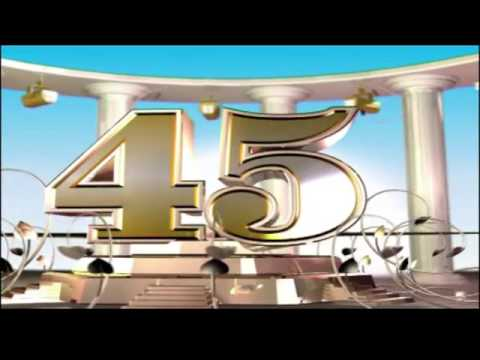 Приглашение открытка на юбилей 45 лет