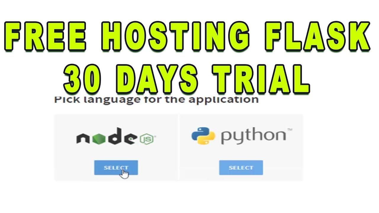 Free Node Js / Python Hosting For 1 Month Trial Include(FTP/MONGO/SSL)
