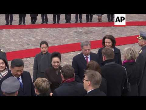 China's Xi welcomed on Helsinki visit