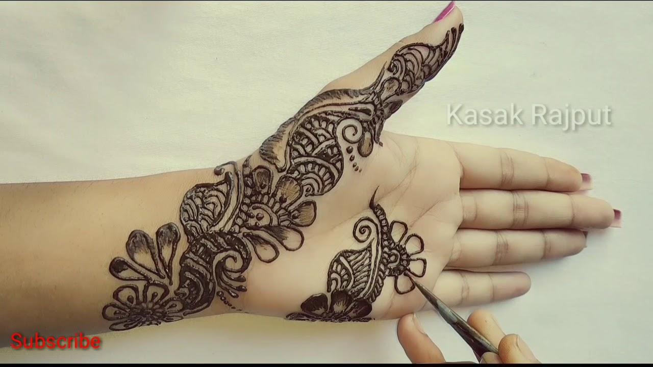 mehndi design simple and easy photo