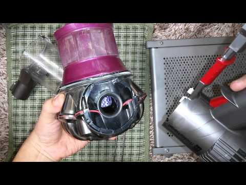 how to clean fabric on dyson
