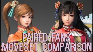 DYNASTY WARRIORS 9 Paired Fans Moveset Comparison