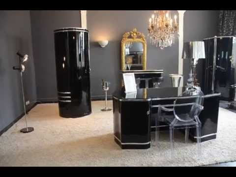 art deco b ro einrichtung luxus schreibtisch mauser stil. Black Bedroom Furniture Sets. Home Design Ideas