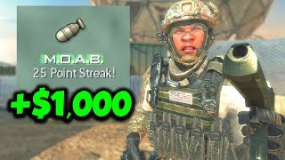 First one to get a MOAB wins $1,000 - MW3 Challenge