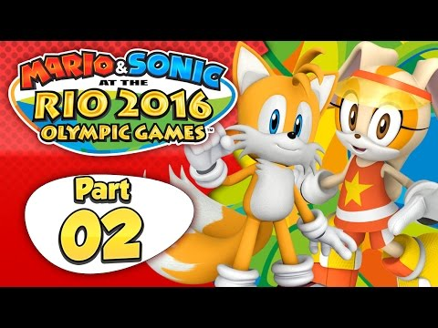 Mario & Sonic At The Rio 2016 Olympic Games - Part 2 | Day 2: The Ghost Scare! [English Gameplay]
