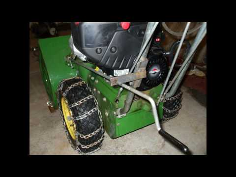 John Deere 726 Snow Blower Repair Modification B S Intek Powerbuilt Engine Video 1