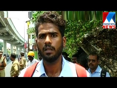 Police attack on youth at the time of vehicle checking | Manorama News