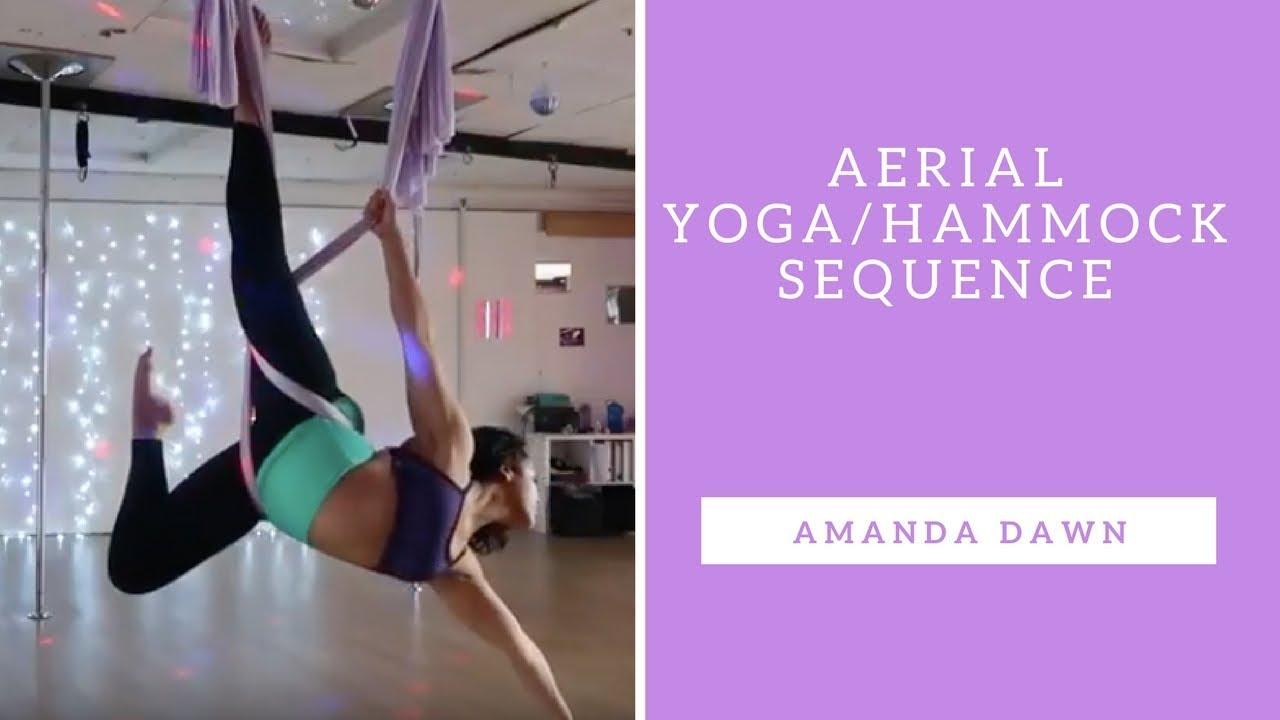 Aerial Yoga/Hammock Sequence - YouTube