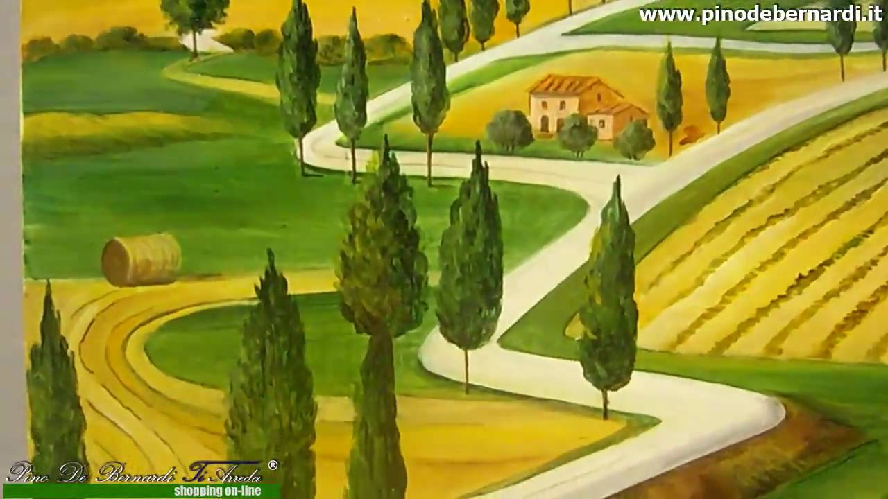 quadri e tele - dipinti colli toscani 1 - YouTube