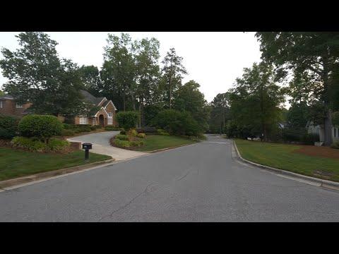 4K Walk - Cary, NC - Relaxing Walk Through A Neighborhood At Sunset