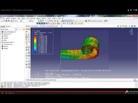 Abaqus Tutorial 8 : Curving metal box - with self-contact