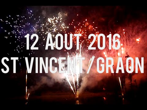 Feu d'artifice | Saint Vincent sur Graon  - 12 aout 2016 [HD