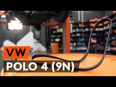 Как заменить поликлиновый ремень двигателя VW POLO 4 (9N) [ВИДЕОУРОК AUTODOC]