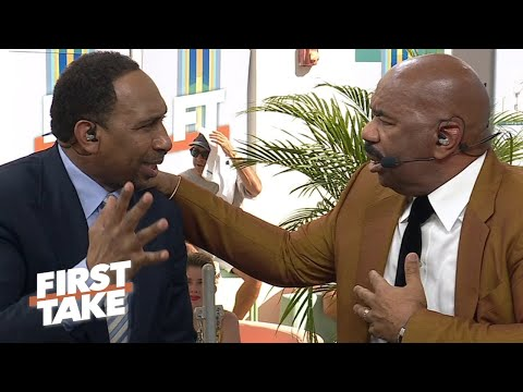 Stephen A. ruins Steve Harvey's hopes for a Browns Super Bowl win | First Take