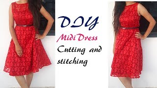 Midi dress Cutting And Stitching Full Tutorial by PN