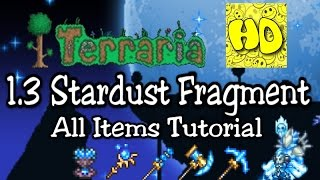 Terraria 1.3 All Stardust Items Tutorial (1.3 Stardust Dragon Cell Staff Monolith Wings)
