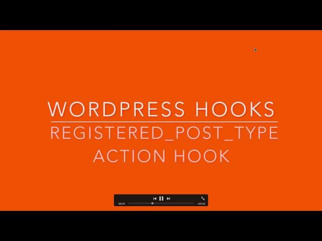 WordPress Hooks registered post type Part-25 Example