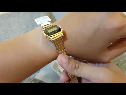 Casio Digital with Natural Diamond LA670WGAD-1 LA670WAD-1Unboxing and Quick Review